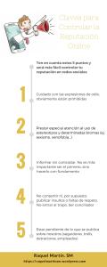 Infografía con 5 claves para controlar la reputación online