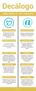 Infografía con el decálogo para crear el tuit perfecto
