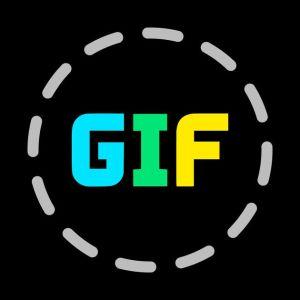 Logo de aplicación de gifs para Android y iOS