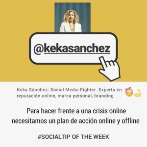Imagen de Keka Sánchez dando consejo social media sobre crisis de reputación online